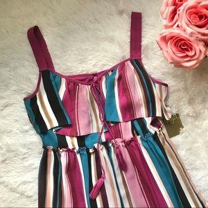 NWT Taylor dress chiffon striped midi
